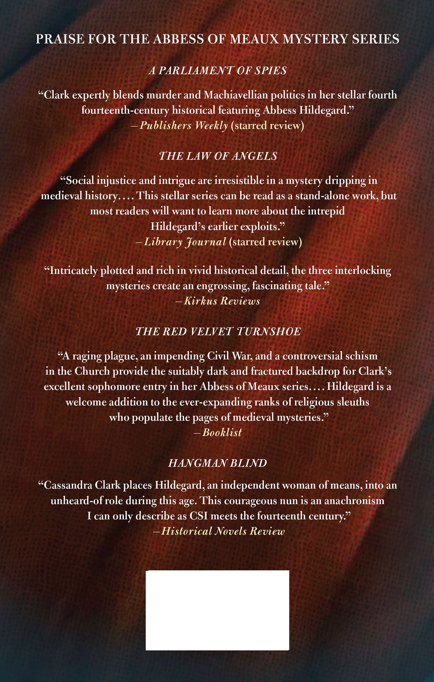 A Parliament Of Spies: A Mystery (abbess Hildegard Of Meaux): Cassandra  Clark: 9780312595746: Amazon: Books
