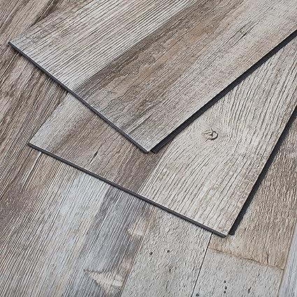 Maykke Restored Wood 23 Sq Ft Vinyl Locking Plank Flooring 48x7 Inch