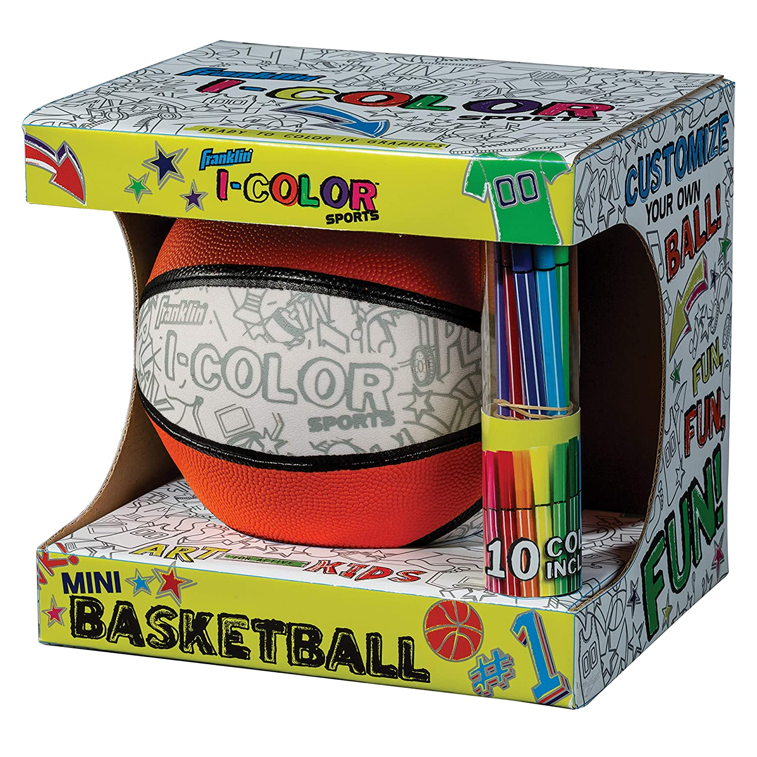 Customize Your Own Ball Basketball or Soccer Ball Franklin Sports I-Color Sports Ball Football