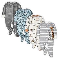 Baby Boys' 4 Pack Sleep 'N Play Footie