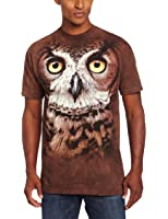 The Mountain Mens Great Horned Owl Head T-Shirt