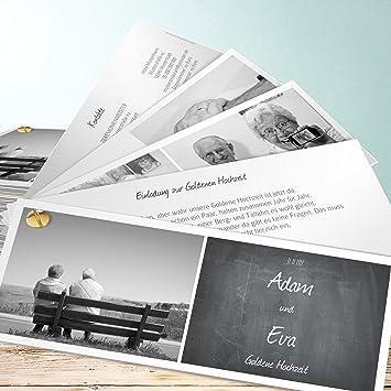 Goldene Hochzeit Einladung Selber Gestalten Getafelt 50 Karten