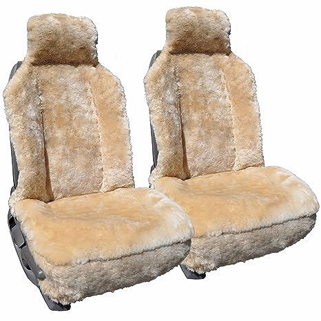 Amazon.com: Fundas de asiento de coche de piel de oveja ...