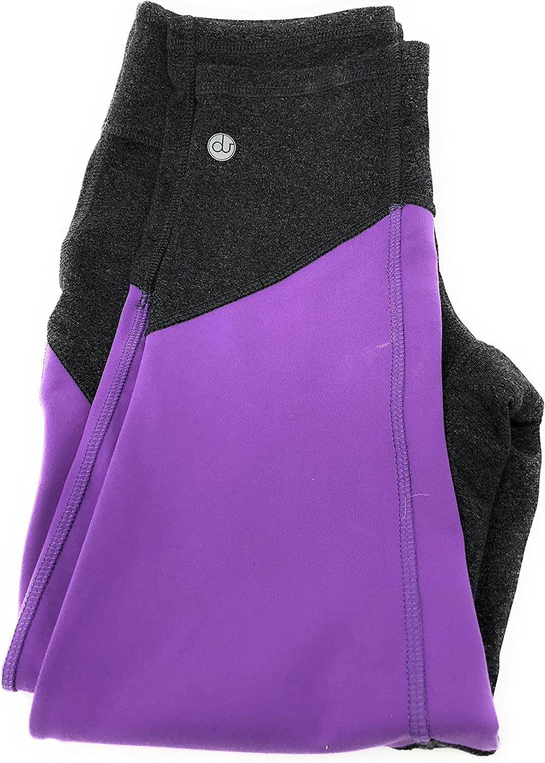 nicepipes Nice Crops Premium Yoga Pants Fitness Apparel Made in The USA Apparel for Women Dark Grey and Purlpe Fuschia