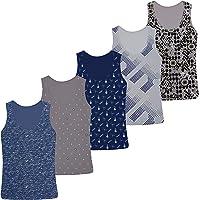 5 Camisetas de niño Camiseta sin Mangas de algodón - 2-15 años