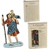 Catholic Patron Saint Christopher the Christ Bearer Resin Statue 6 Inch Roman Inc 60683