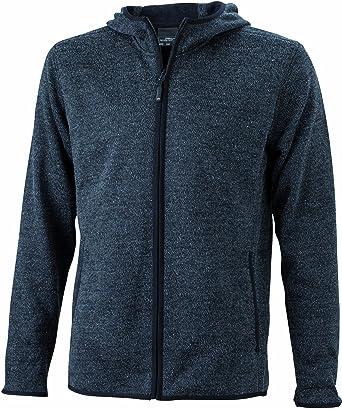 James & Nicholson Men's Kapuzenjacke Men's Knitted Fleece Hooded Sweatshirt  Hooded Jacket: Amazon.co.uk: Clothing