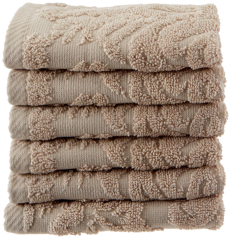 Chortexバロック% 100トルコ綿Washcloths ,セットof 6 13