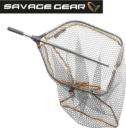 Savage Gear Pro Folding Rubber Large Mesh Landing Net L Unterfangkescher