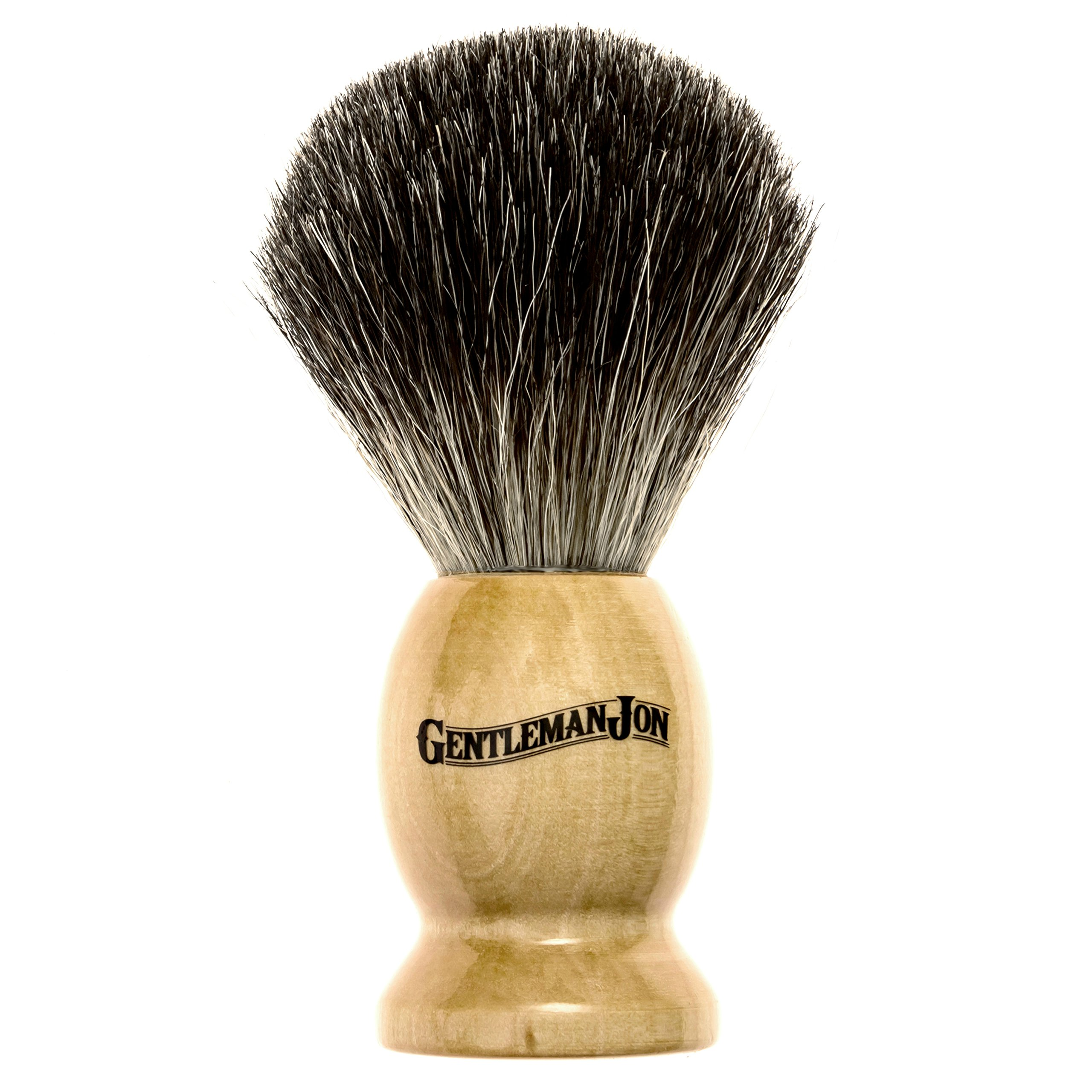 Gentleman Jon Complete Wet Shave Kit | Includes 6 Items: One Safety Razor, One Badger Hair Brush, One Alum Block, One Shave Soap, One Stainless Steel Bowl and Five Razor Blades by Gentleman Jon (Image #4)