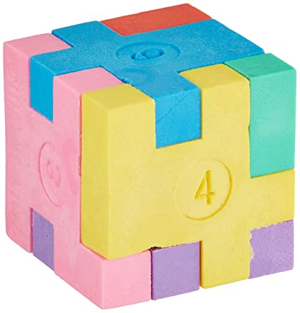 Puzzle Cube Eraser, Package of 12