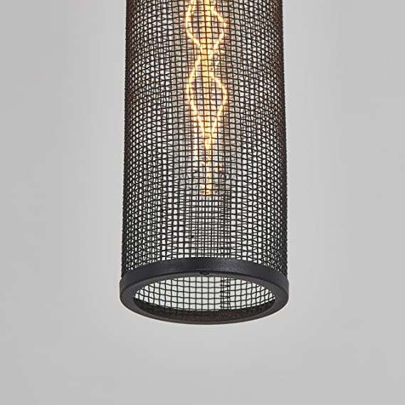Artika MTN1L-HD1 Milton 1-Pendant Incandescent Light Fixture with a Metal Mesh Shade and an Industrial Design, Bulbs Included Black - - Amazon.com