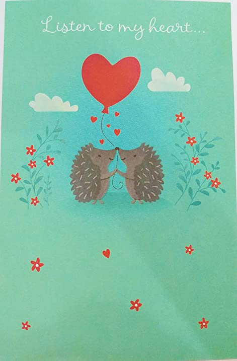 Amazon listen to my heart it loves you happy birthday listen to my heart it loves you happy birthday romantic greeting card m4hsunfo