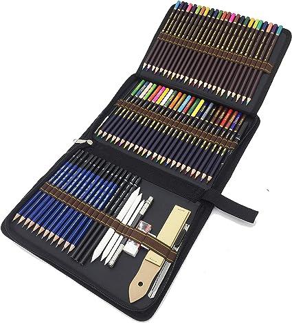 Lapices de Dibujo Profesionales, 72 Piezas Set Lápices de colores y Lápices de Madera, Carbón Grafito Sticks, Herramientas de dibujo - Conjunto Ideal para Artistas, Adultos y Niños: Amazon.es: Oficina y papelería