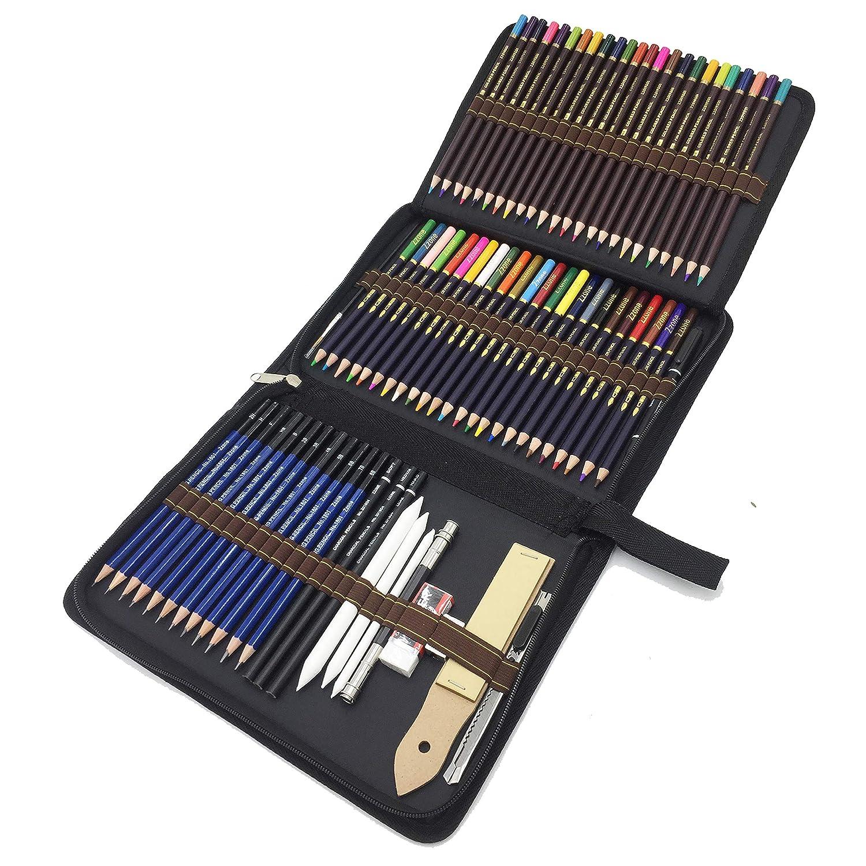 Matite Di Disegno Artistico 72 Kit Matite Da Schizzo E Matite Colorate Di Grafite Di Carbonio Matite Di Legno Fornire A Artista Professionale E