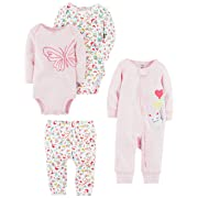 Carter's Baby Girls' 4-Piece Gift Set, Pink Floral, 3 Months
