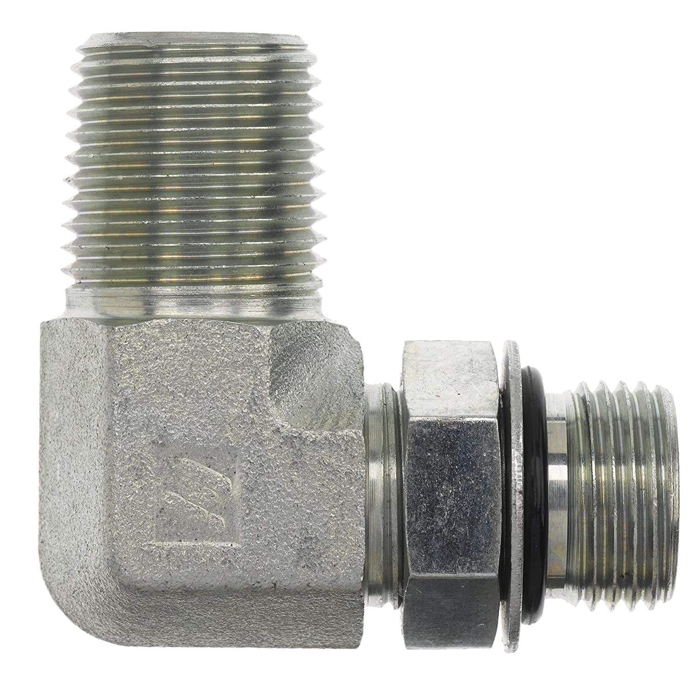 9//16-18 SAE ORB x 3//8-18 NPTF Thread Brennan Industries 6806-06-06-NWO-FG Forged Steel 90 Degree Elbow Tube Fitting 3//8 Male Adjustable O-Ring Boss x 3//8 Male NPTF