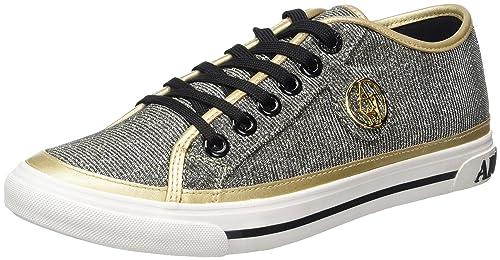 Armani Jeans 9252267P615, Zapatillas Mujer, Multicolor (Oro), 38 EU