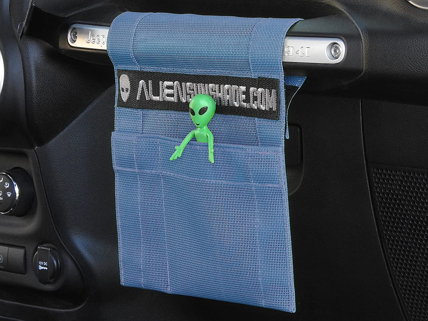 ALIEN SUNSHADE Jeep Wrangler TrailPouch Multi-Purpose Mesh Storage Pouch Organizer with 10 Year Warranty Blue