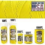 tough-grid 750lbパラコード/パラシュートコード–純正MilスペックタイプIV 750lbパラコード使用by the US Military ( mil-c-5040-h )–100%ナイロン–Made in the USA。