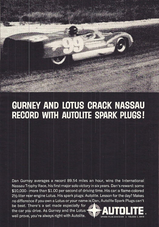 1961 Autolite Spark Plugs Advertisement Advertising
