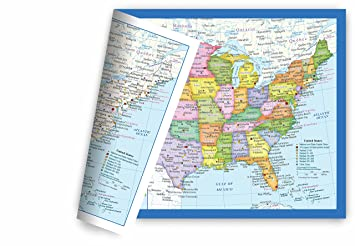 united states usa map small poster size 11 5 x 17 5 inches 2 sided sealed
