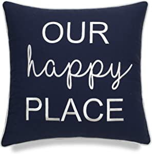 EURASIA DECOR DecorHouzz Pillowcase Farmhouse Embroidered Home Throw Pillow Cover Funny Quote Cushion Cover for Housewarming Guest Porch Wedding Anniversary Couple (18