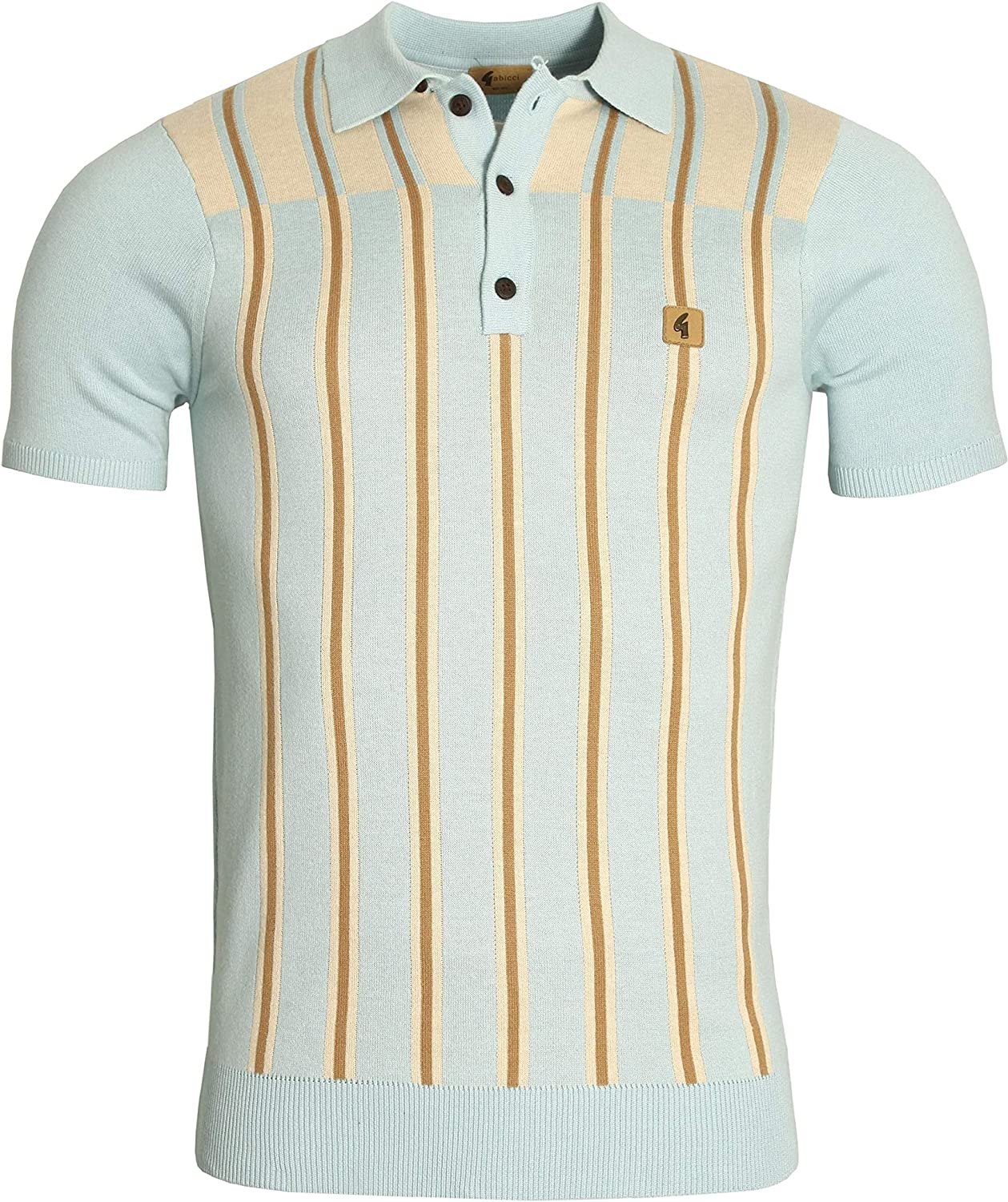 Gabicci Holmdene Boating Stripe Yolk Polo Shirt | Mist Large ...