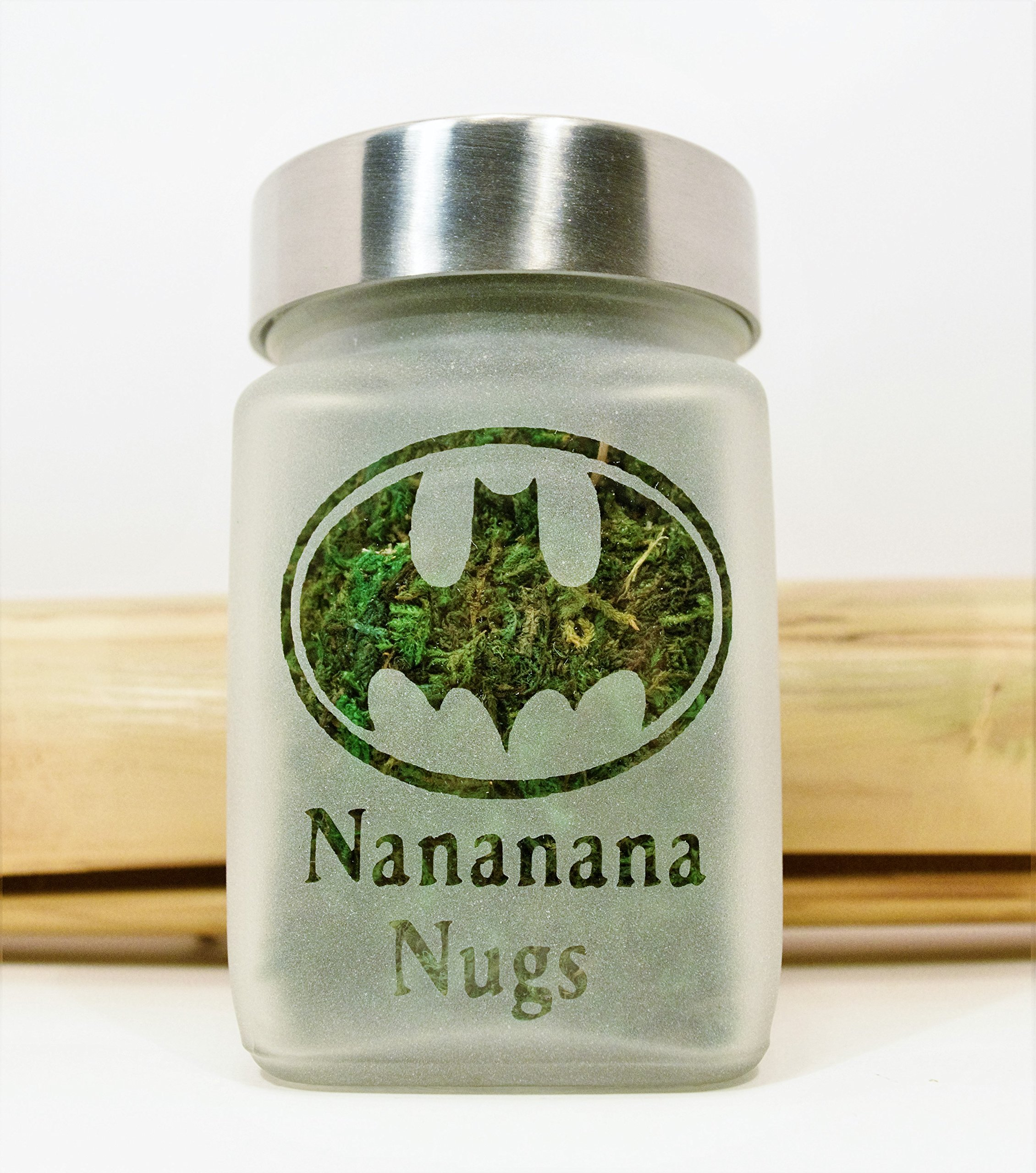 Retro Batman Stash Jar | Nananana Nugs Weed Jar and Weed Accessories | Stoner Gifts, Stash Jars & Stoner Accessories by Twisted420Glass (Image #5)