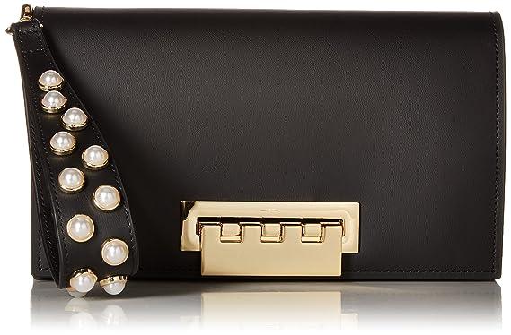 8c54758ae35 Amazon.com  ZAC Zac Posen Earthette Clutch-Black w Pearls  Clothing