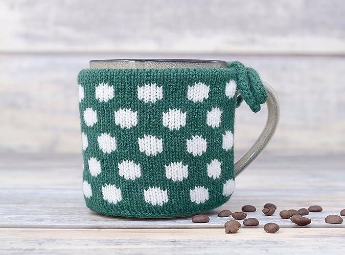 Amazon Mug Sweater Sleeve Coffee Cup Warmer Knitted Tea Cosy