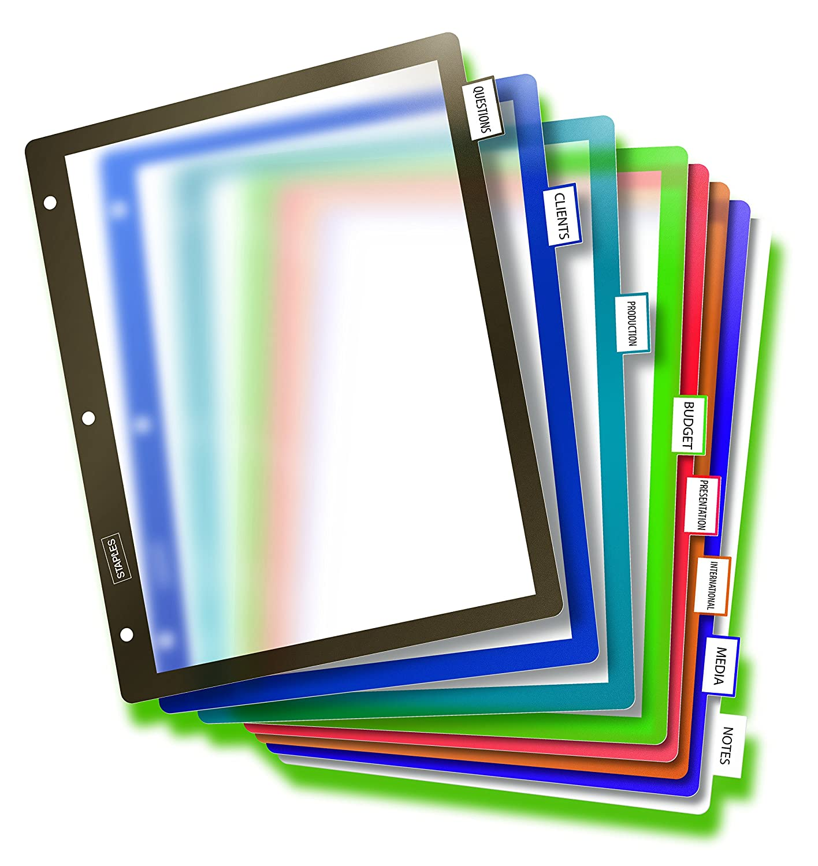 staples betterfixed tab dividers 8 tab mulitcolor