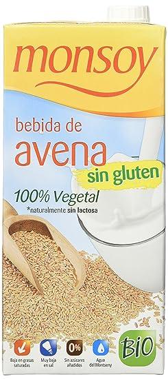 MONSOY Bebida de Avena sin Gluten Ecologica 1L [caja de 4 x 1L]