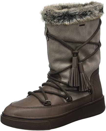 Geox Women's D Mayrah B ABX A Snow Boots, Brown (Chestnut/Taupe)