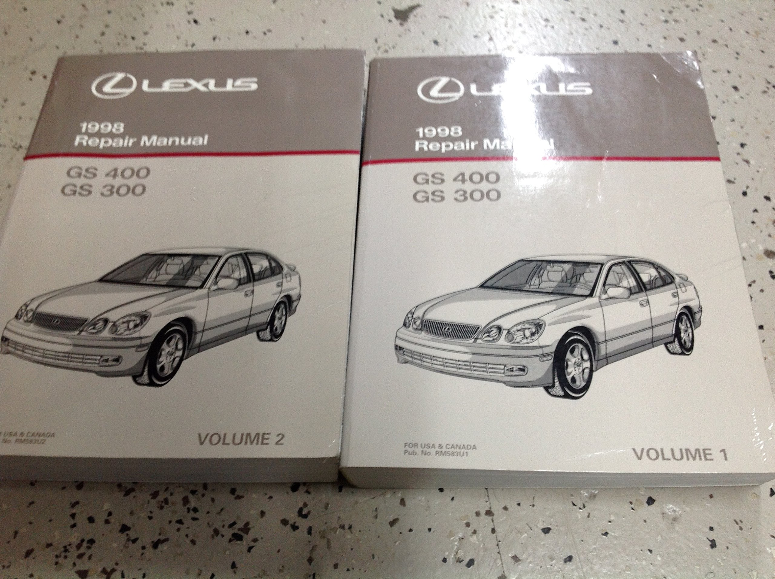 1998 LEXUS GS400 GS300 Workshop Service Shop Repair Workshop Manual Set:  Toyota: Amazon.com: Books
