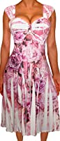 Funfash Plus Size Clothing for Women Empire Waist Sleeveless Slimming Cocktail Dress