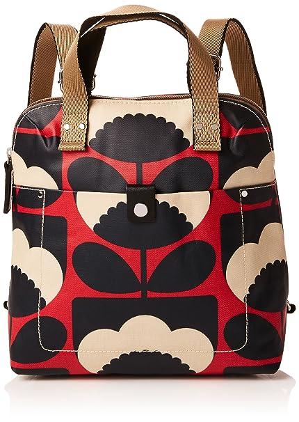 Womens Small Tote Backpack, Red (Poppy), 25x26.5x13 cm (W x H x L) Orla Kiely