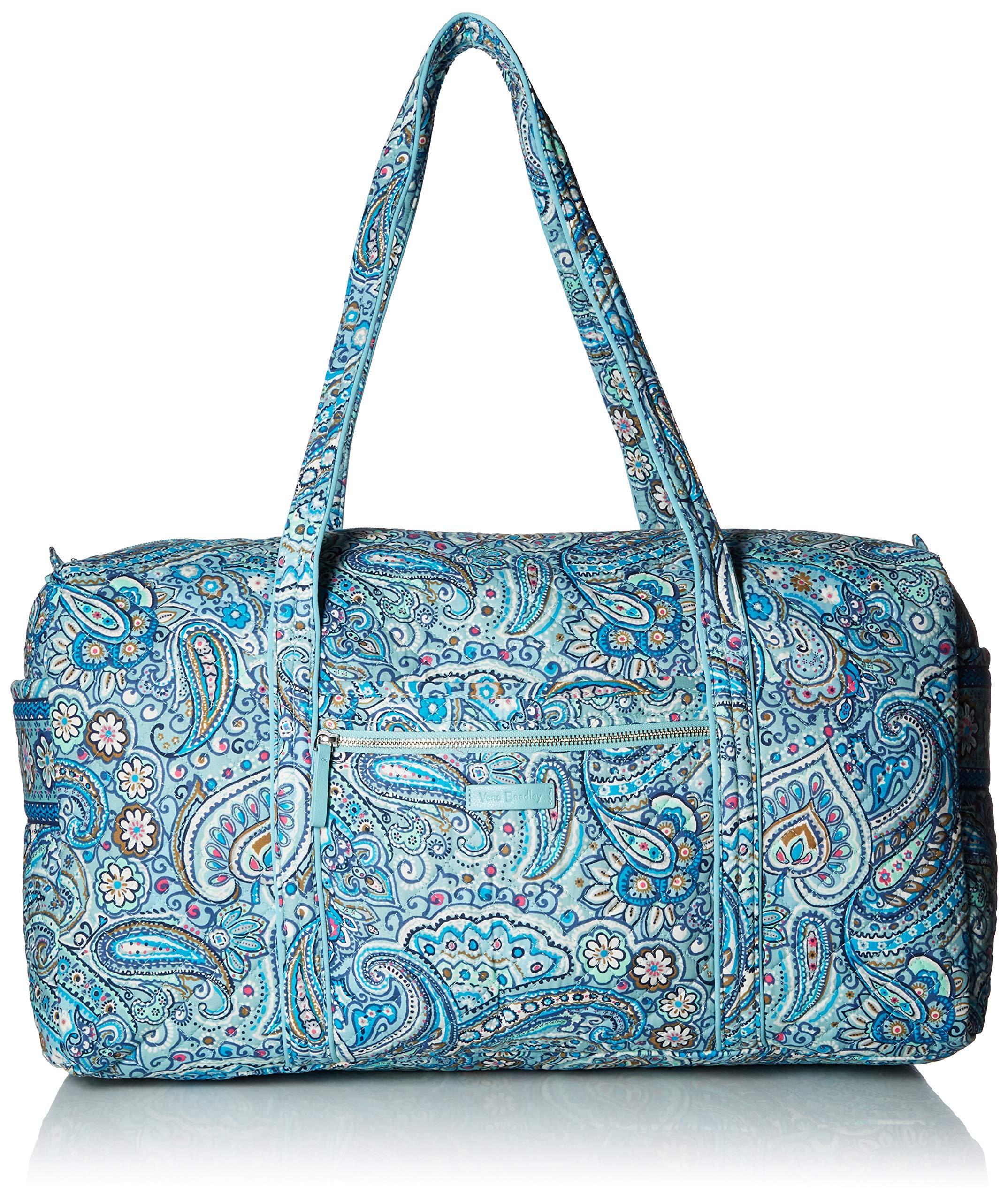 Vera Bradley Womens Iconic Large Travel Duffel, Signature Cotton, Daisy Dot Paisley
