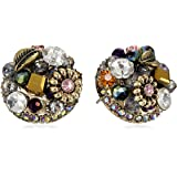 "Betsey Johnson ""Woven Clusters"" Woven Cluster Round Stud Earrings"