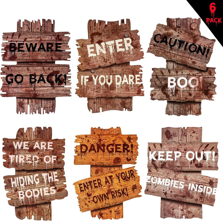Warning Signs Yard Stakes