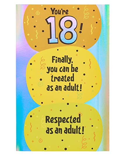 Amazon American Greetings Funny 18th Birthday Card With Foil