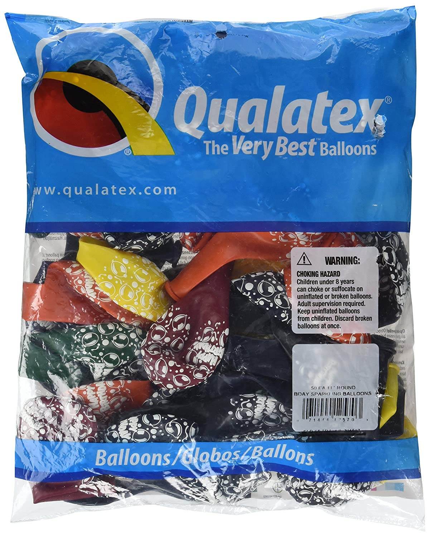 Multicolored Qualatex 11 BDAY SPARKLING BALLOON LATEX
