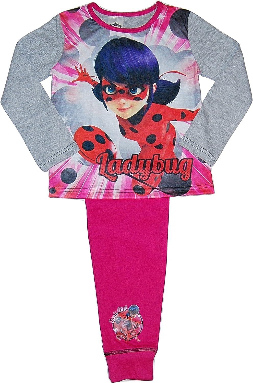 Ladybug - Pijama - para niña Rosa Pink/Grey/Red/Multicoloured ...