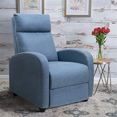 Amazon.com: Tuoze Silla reclinable de tela ajustable para ...