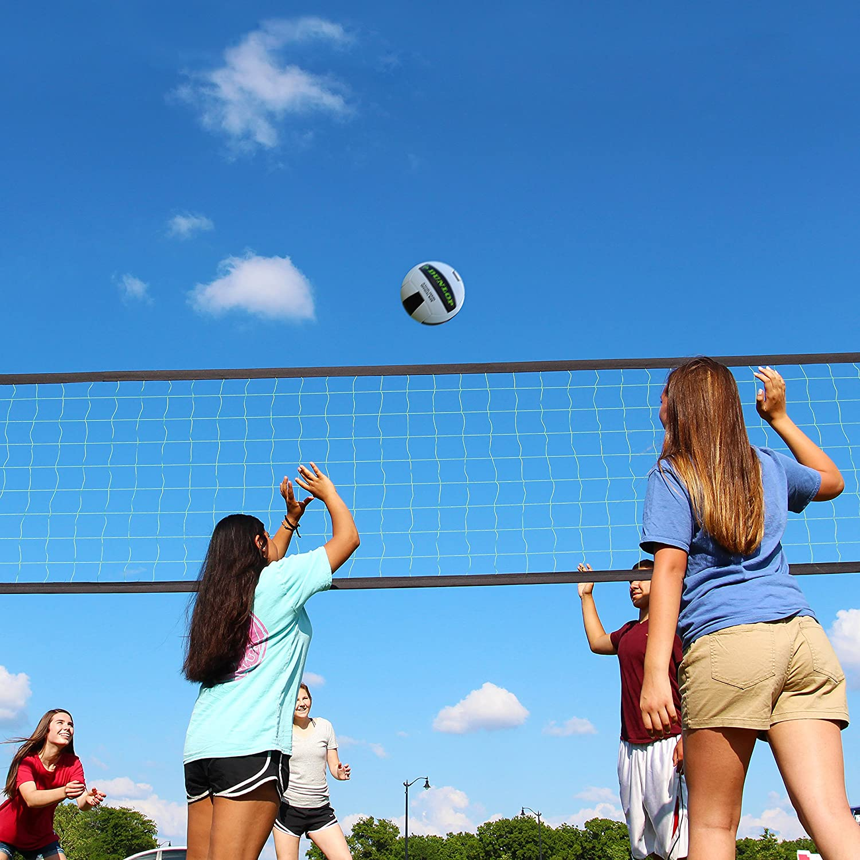 amazon com dunlop outdoor sports volleyball set portable net