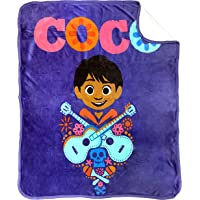 Jay Franco Disney Pixar Coco Seize The Moment Sherpa Throw Blanket - Measures 50 x 60 inches, Kids Bedding Features Miguel - Fade Resistant Super Soft - (Official Disney Pixar Product)