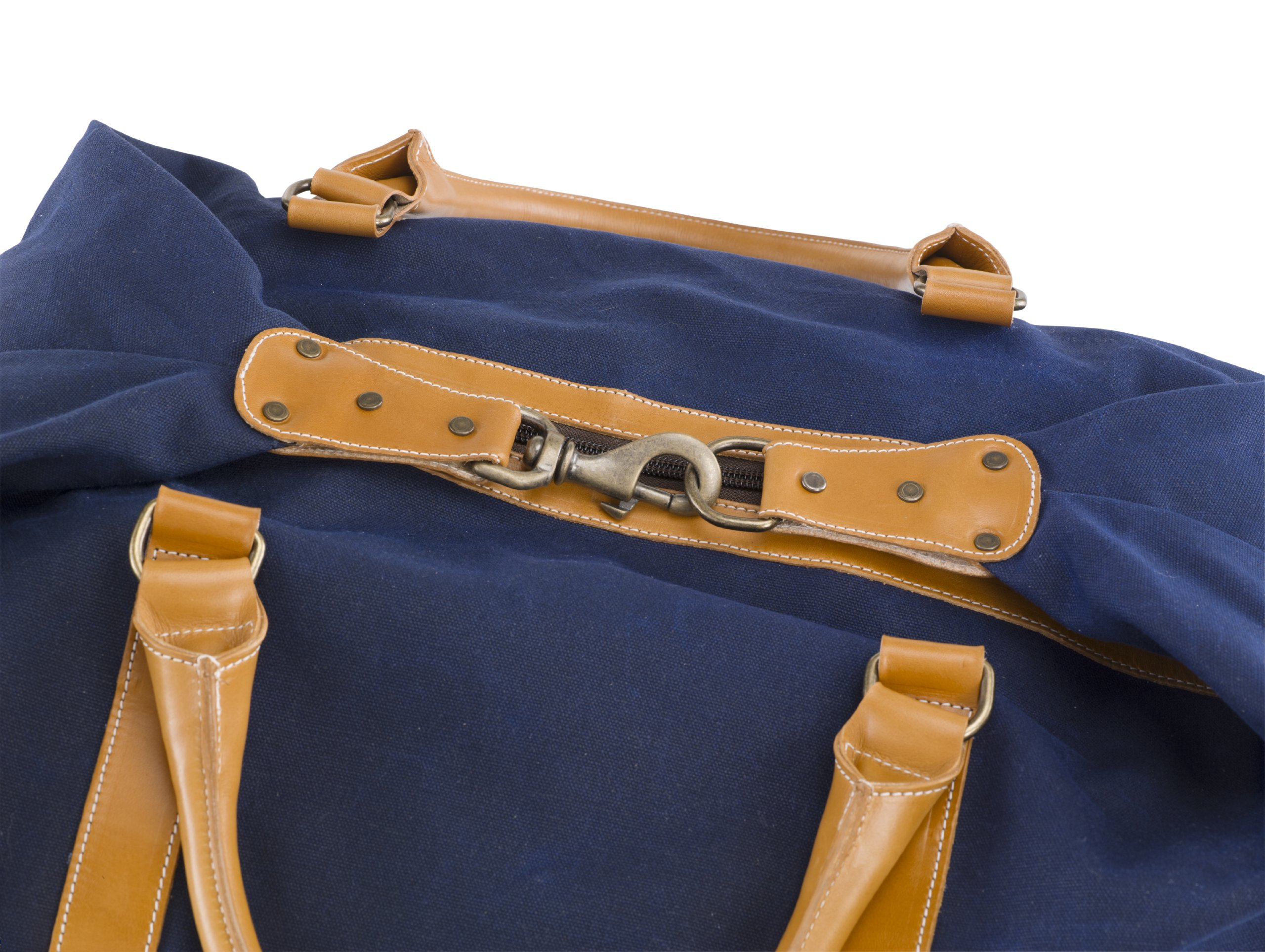 BELDING American Collection Satchel Duffle Bag, Navy by BELDING (Image #3)