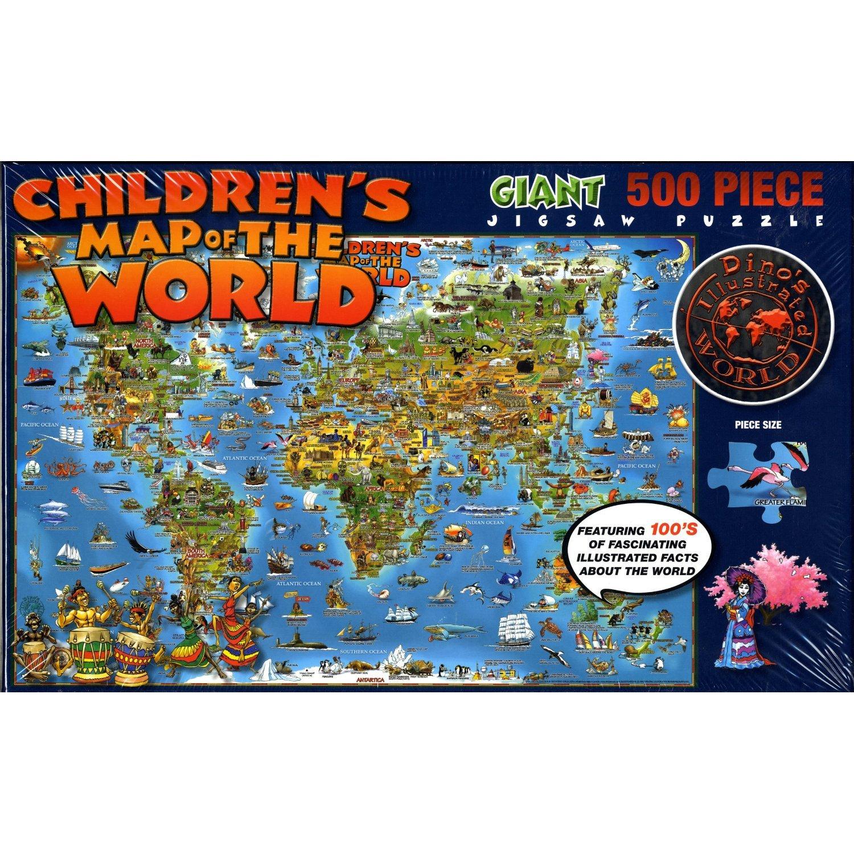 Amazoncom Childrens Map of the World Giant 500 Piece Jigsaw