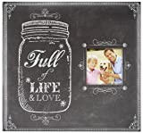 """MCS MBI 12.5x13.5 Inch """"Full of Life and Love Mason Jar"""" Scrapbook Album with 12x12 Inch Pages with Photo Opening"""