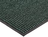 """NoTrax 109 Brush Step Entrance Mat, for Lobbies and Indoor Entranceways, 4' Width x 8' Length x 3/8"""" Thickness, Hunter Green"""